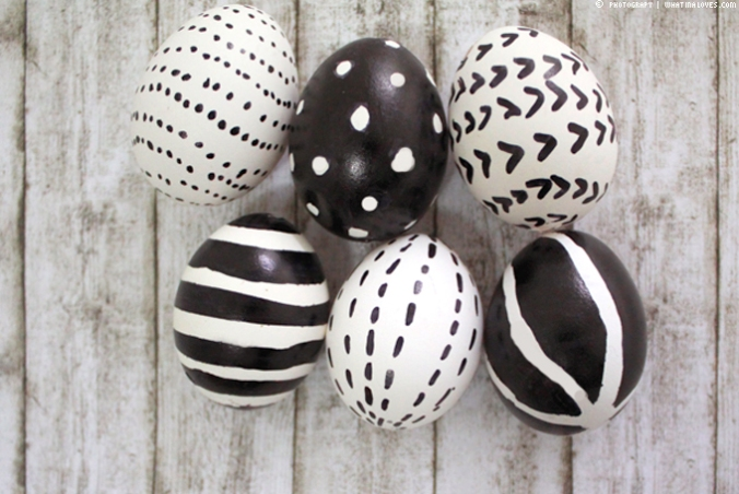 Black and White Easter Eggs_City Glam Blog