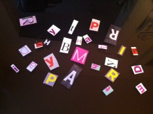 Letters for a DIY Card