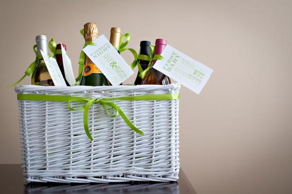 Wedding shower wines