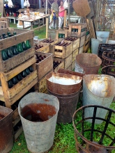 Brimfield fair antique bins