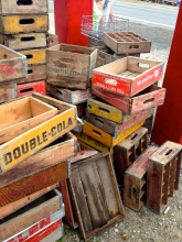 Vintage boxes Brimfield flea