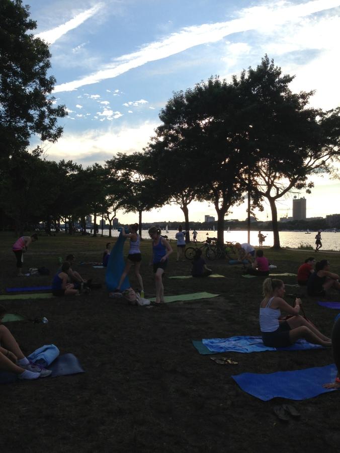 Yoga on the Esplanade Boston